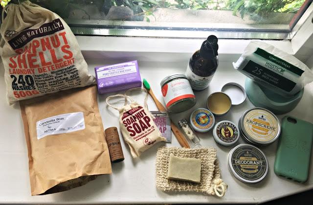 Miljøvennlige forbruksvarer, noen fra Be:Eco netthandleri. Kosmetikk, barer og hjemmelagde produkter. Foto: Marit Inderhaug