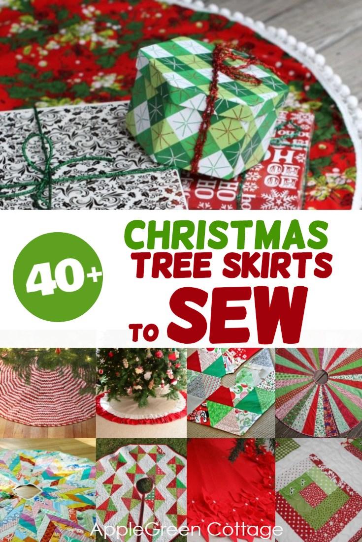 Christmas Tree Skirt Patterns Free.40 Tree Skirts Free Patterns To Sew Applegreen Cottage