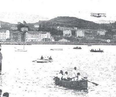 Imagen de Portugalete en una fotografía tomada desde Las Arenas (Nuevo Mundo, 2-7-1920)