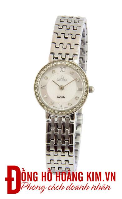 Đồng hồ nữ Omega dây inox giá rẻ dưới 1 triệu