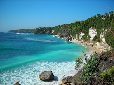Sawarna beach, beautiful beach hidden in Banten