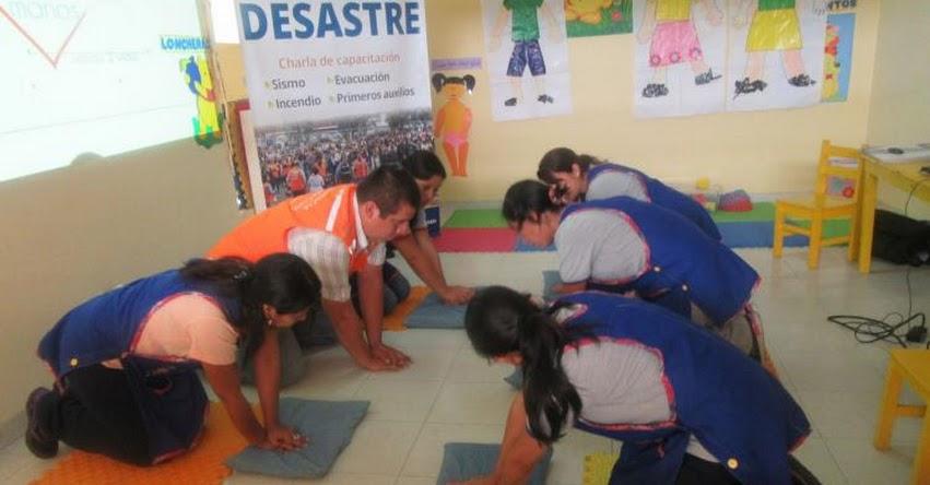 Refuerzan capacitación en colegios y nidos de Jesús María para enfrentar sismos