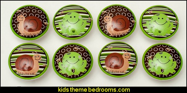 Set of 8 Polywog Frog Dresser Drawer Cabinet Knobs
