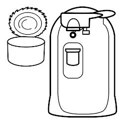 colorear cocina dibujos utensilios abrelatas imprimir