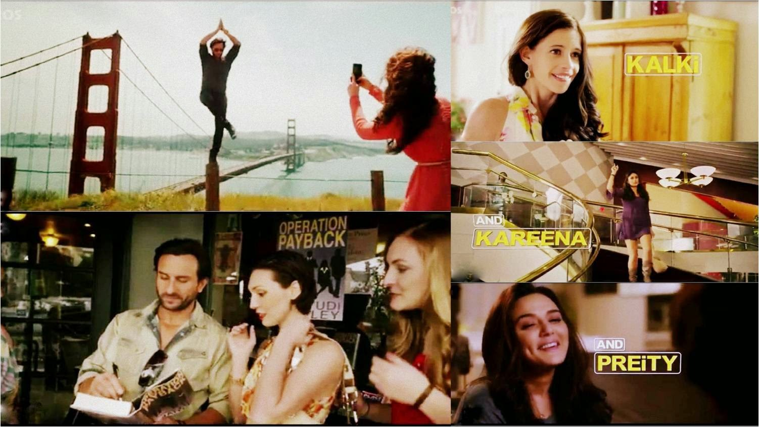 Saif Ali Khan, Ileana D'Cruz, Kalki, Kareena and Preity Zinta in Happy Ending movie stills