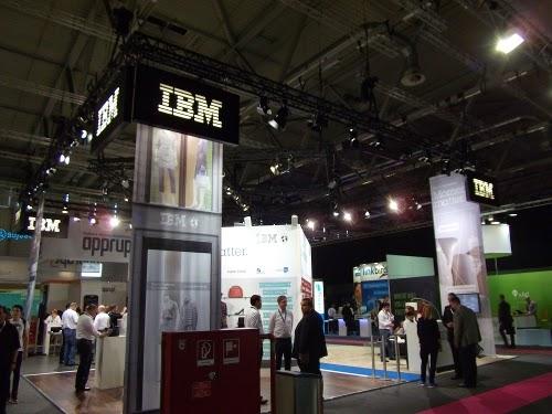 dmexco 2014: Der IBM-Stand.