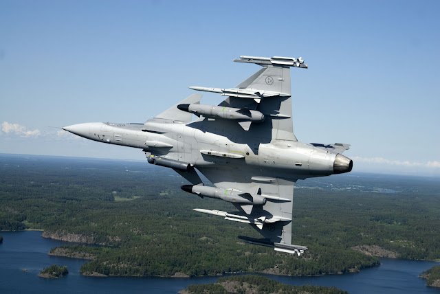 Gripen-D with RBS-15  Credits: Saab