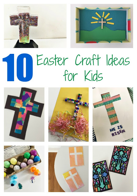 10 Easter Crafts for Kids || The Chirping Moms. Religious Easter Crafts. Sunday School Crafts for Kids.