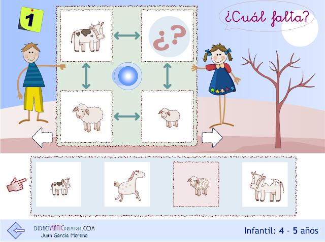 Habilidades. Infantil 4-5 años. Analogías con animales