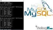 Comand Dasar MySql Di Comand Prompt (CMD)