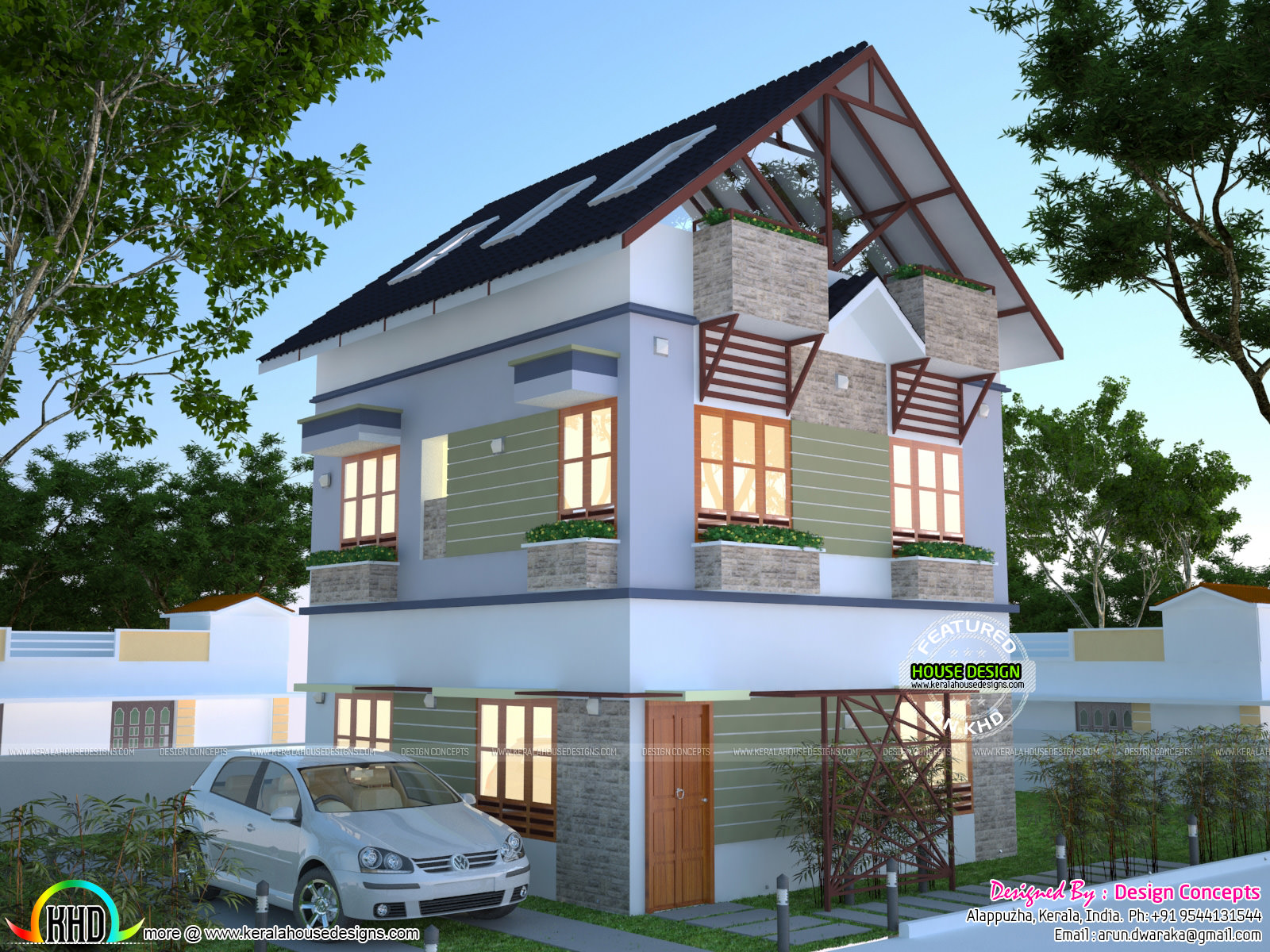 House plan for 2 cent Kerala home design