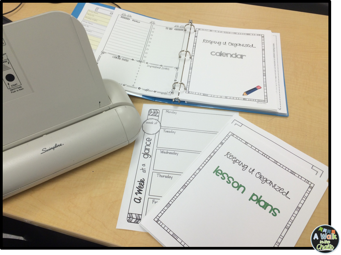 classroom organization  setting up a guided reading binder