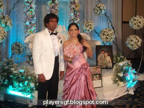 Lasith Malinga and his wife Tanya Minoli Perera