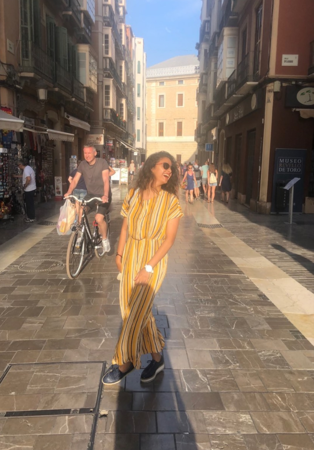 Keerthy Suresh in Yellow and Green with Lovely Smile at Malaga in Spain 1