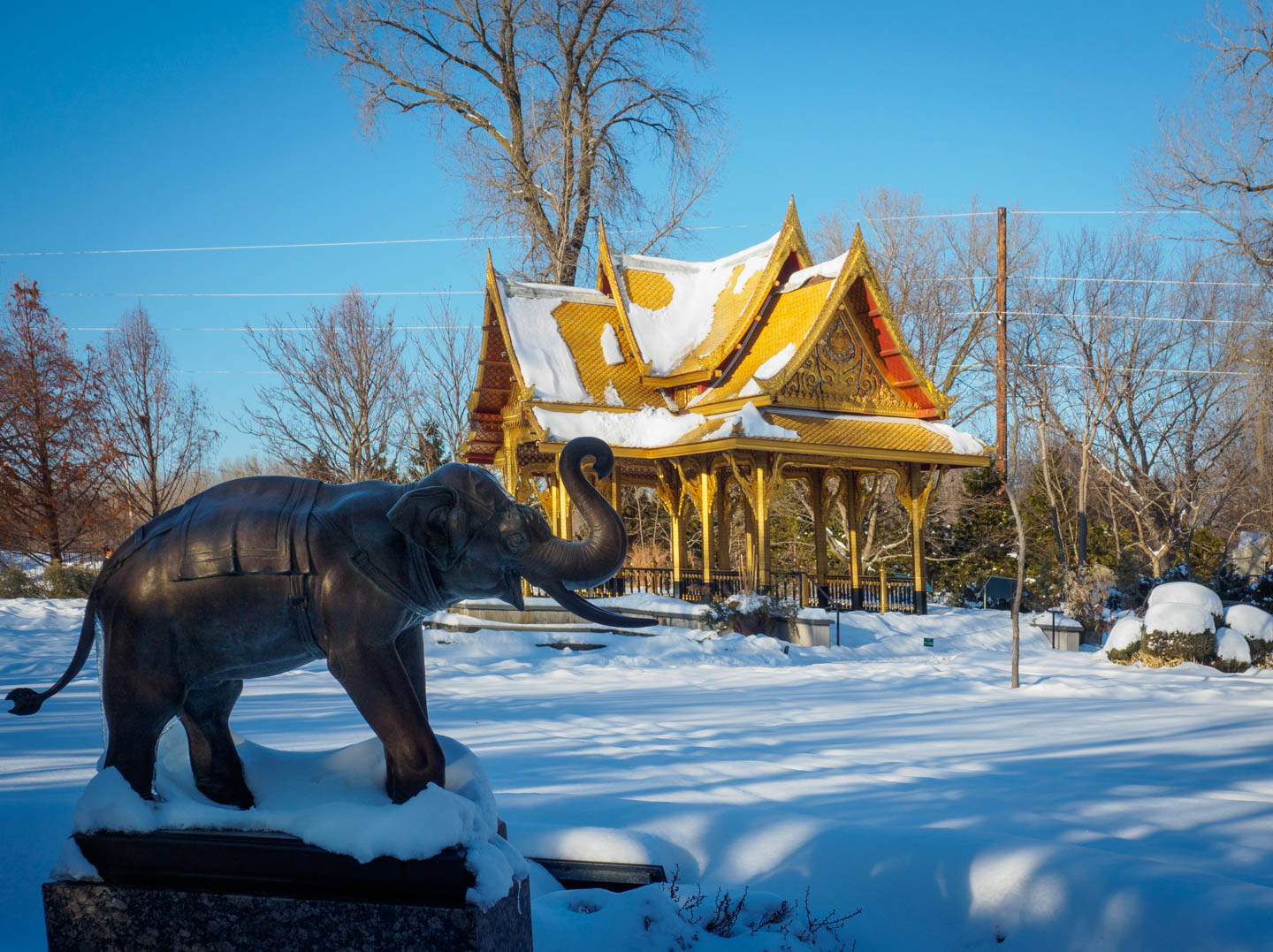 Indian Summer Afternoon At Olbrich >> Enderle Travelblog Thai Structure In The Snow