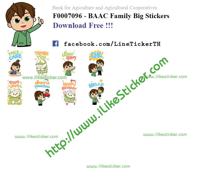 BAAC Family Big Stickers