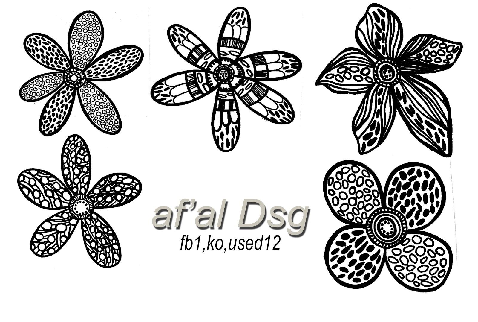 Contoh Variasi Design Motif Bunga Bordir bordir