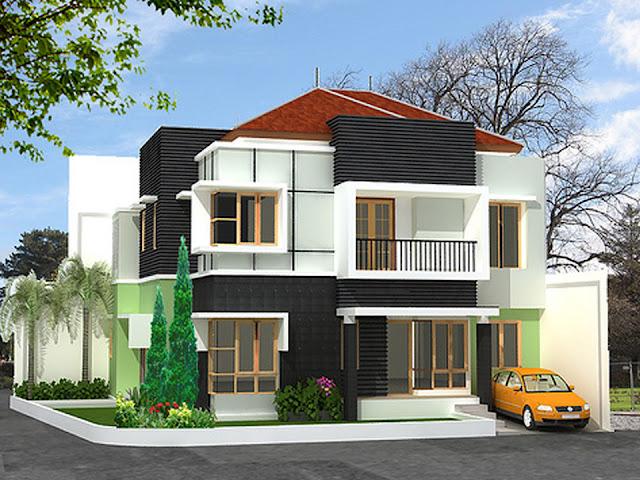 Desain Model Rumah Minimalis Tipe 60 dengan 2 Lantai