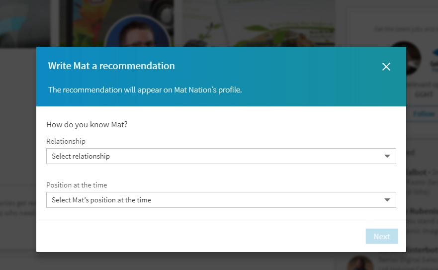 how to give linkedin recommendation