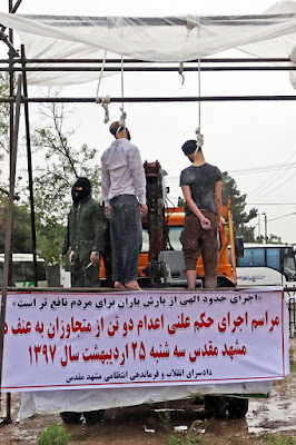 Mashhad public hangings, May 2018