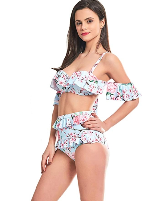 Floral retro style swimsuit