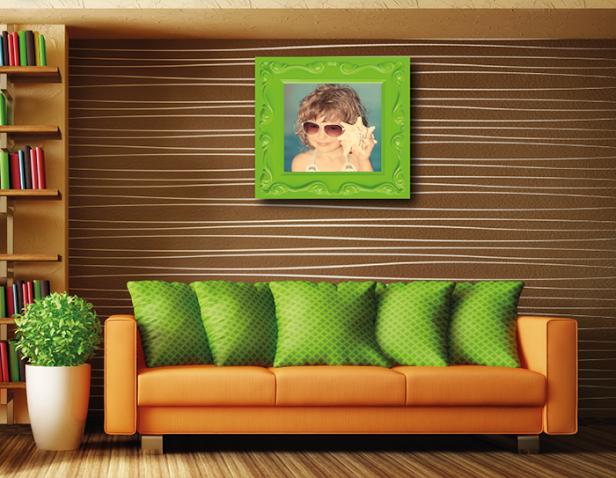 Decoração com fotos em quadros personalizados
