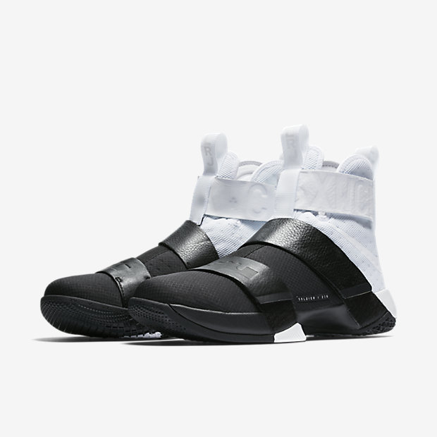 new arrival 8a787 a7dab Leather made its way to the LeBron Soldier 10