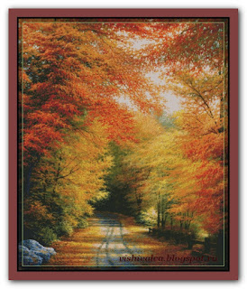 "Shinysun's Cross Stitching ""Autumn in New England"""