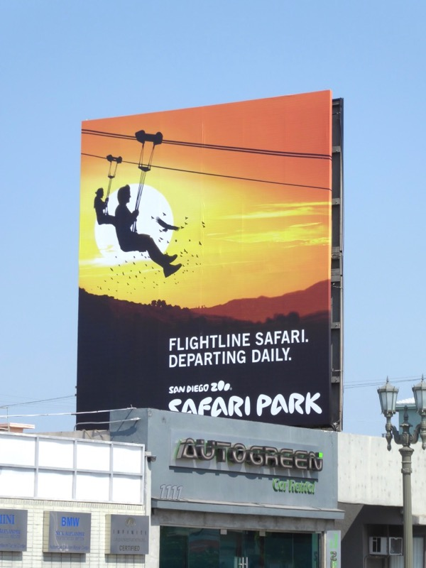 San Diego Zoo Safari Park flightline billboard