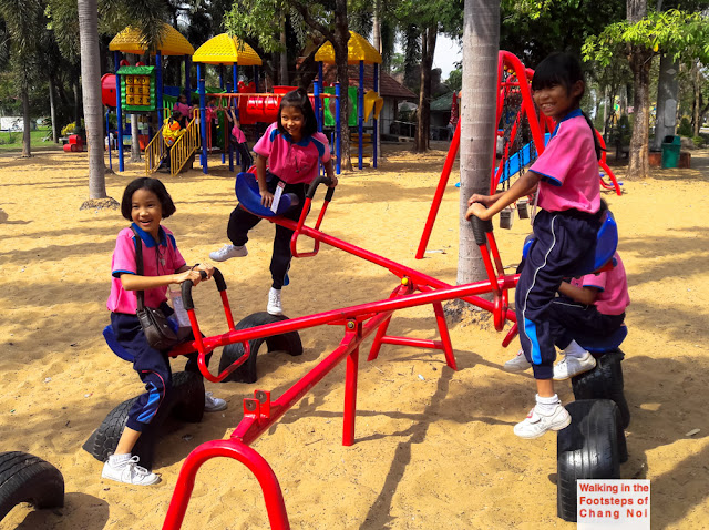 Kids playing in Thailand