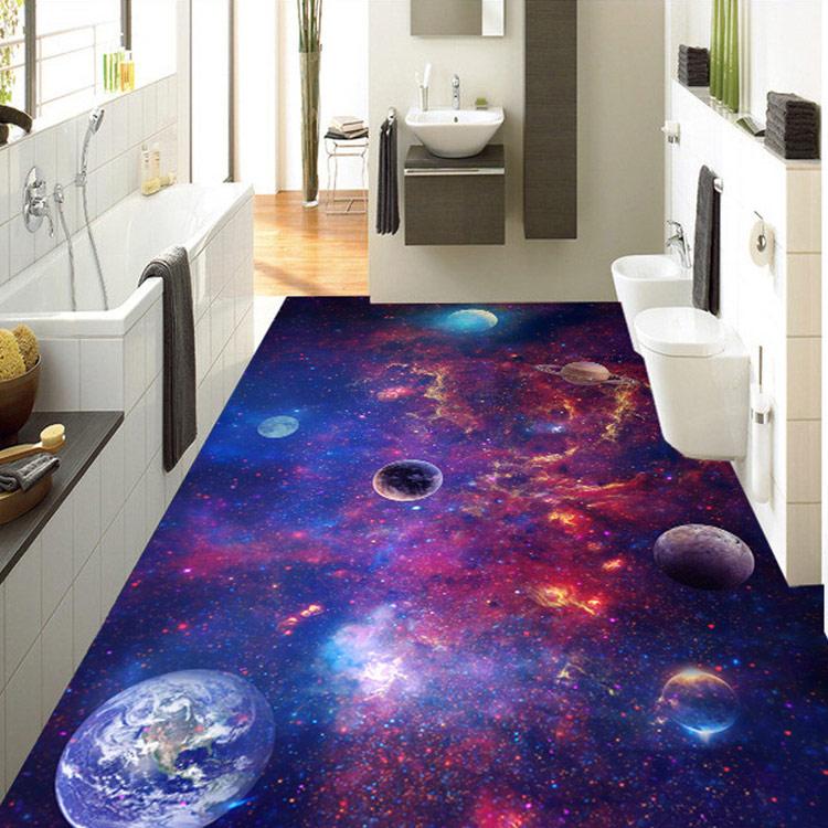 New 3d bathroom floor and epoxy flooring