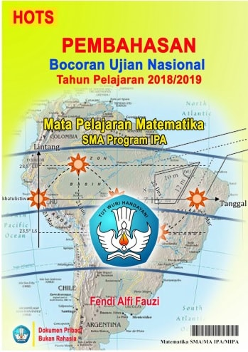 Pembahasan Bocoran UN Tahun 2019 Matematika SMA Program IPA Lengkap Format PDF