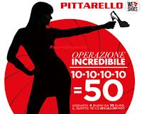 Logo Operazione Incredibile Pittarello: buono sconto da 10 euro gratis