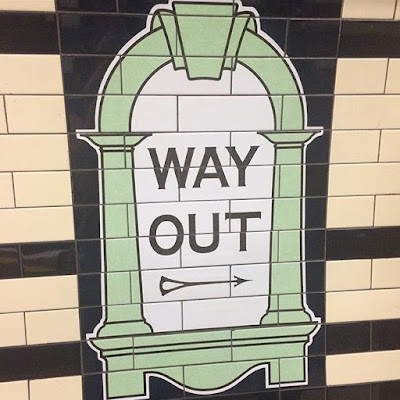 'Way Out' signage on the London Underground