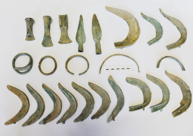 Dog discovers Bronze Age treasure in the Czech Republic