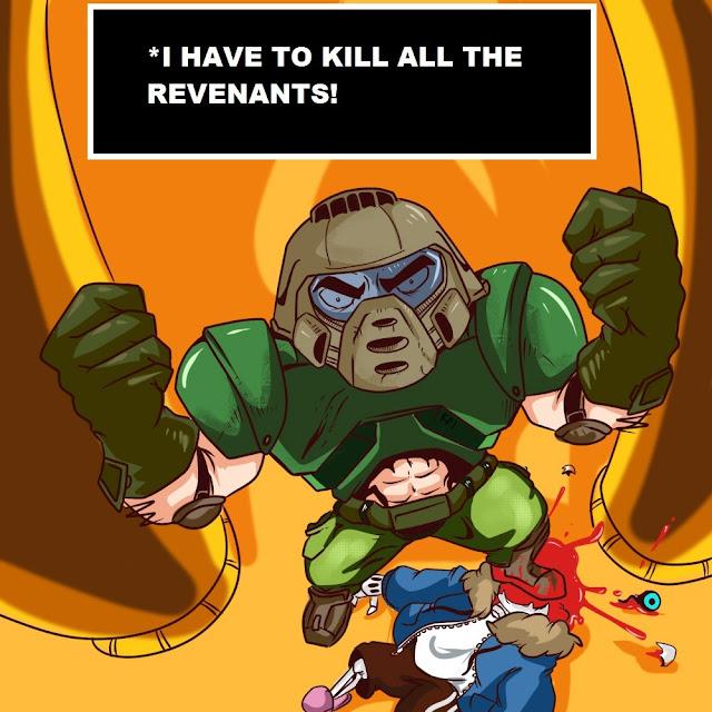 Doomguy decidido a matar todos os Revenants