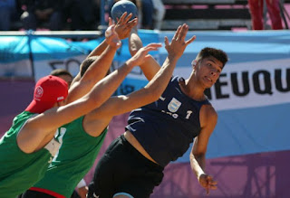 Beach handball: Argentina lost 9-8 to Portugal and seek the bronze medal against Croatia