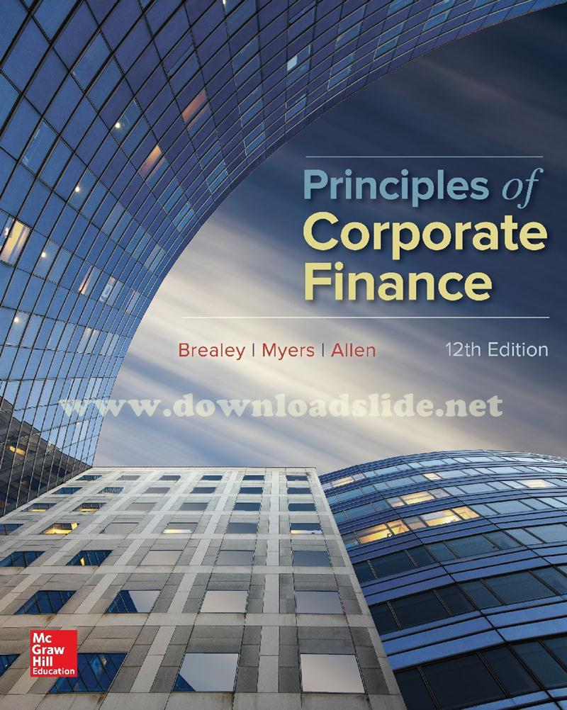 principles of corporate finance 7 U finance and the financial manager principles of corporate finance brealey and myers sixth edition chapter 1.