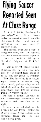 Flying Saucer Reported at Close Range - The Troy Messenger Troy, Alabama 1-27-1953