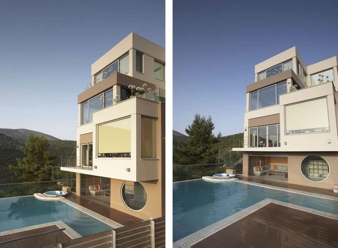 Oikia panorama voulas villa by dimitris interiors economou at greece