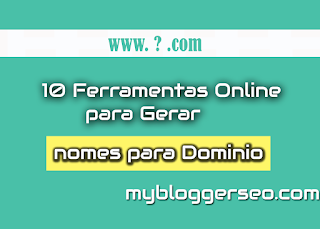 ferramentas online para gerar nomes de dominios