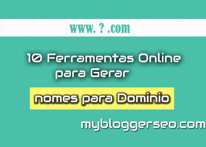 10 Ferramentas online para gerar nomes de domínio