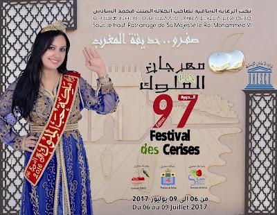 """Sous le Haut Patronage de Sa Majesté, Sefrou organise la 97ème édition du Festival des cerises sous le thème """"Notre unicité est dans notre diversité"""""""