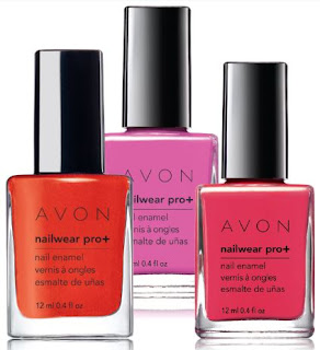 Avon Nailwear Pro+ Nail Enamel summer shades - with swatches!