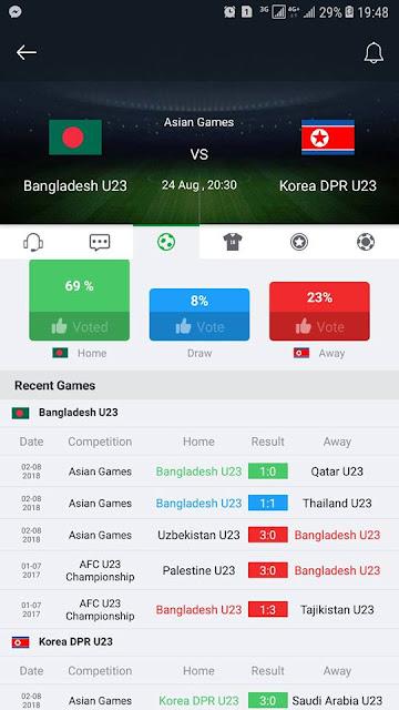 Bangladesh vs Korea DPR Asian Games Live Stream 24.8.2018