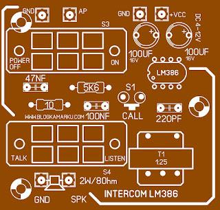 PCB Intercom Jaman dulu yang sudah cukup langka