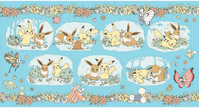 Pokemon Center Original T-shirt M Pok?mon Yurutto Eevee /& Pikachu