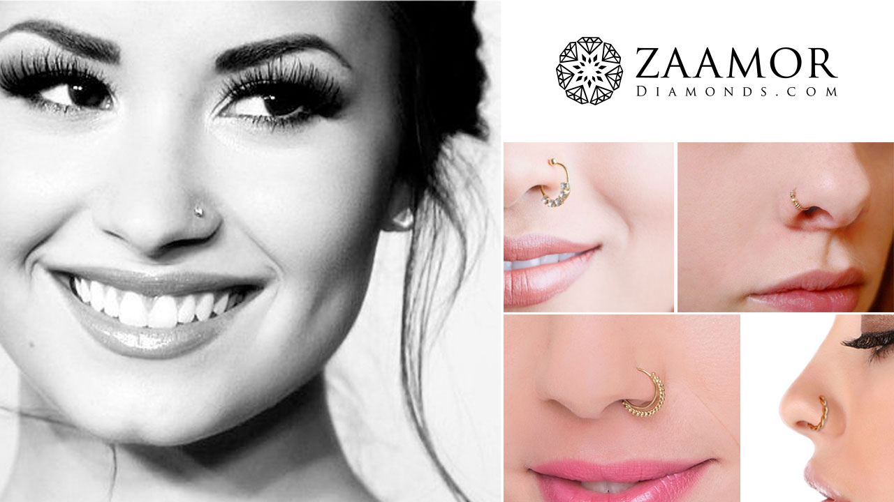 a1b663d36f820 The Perfect Type of Nose Ring for Every Face Shape | Zaamor Diamonds ...