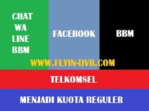 Cara Menggunakan Kuota Chat FB BBM Telkomsel Menjadi Kuota Reguler di PC