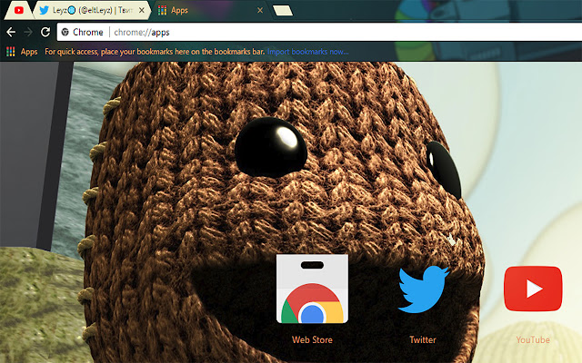 LittleBigPlanet - Install Theme For Google Chrome browser